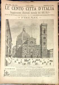 1887 LE CENTO CITTA' D'ITALIA FIRENZE