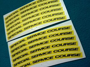 """MAVIC COSMIC CARBONE """"SPECIAL SERVICE COURSE"""" SMALL DECAL SET 12pcs"""