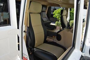 HUMMER H1 1992-2006 IGGEE S.LEATHER CUSTOM FIT SEAT COVER 13 COLORS AVAILABLE
