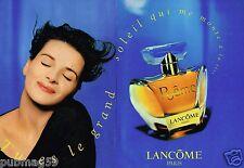 Publicité advertising 1996 (2 pages) Parfum Poeme de lancome Juliette Binoche