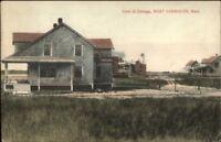West Yarmouth Cape Cod MA Cottage Home c1910 Postcard