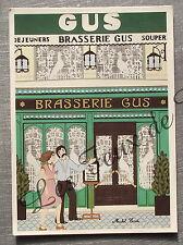 Carte postale BRASSERIE GUS  Michel Cordi peinture naive    postcard