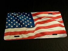 AMERICAN FLAG, LICENSE PLATE,USA,  AMERICA , old glory, stars and stripes 6 x 12