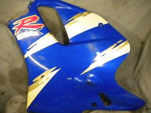 SUZUKI GSXR 750 WN LEFT SIDE  FAIRING LOWER PANEL BLUE WHITE 1992 WP WR WS