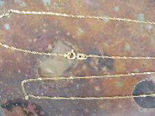 """14 KT YELLOW Gold Light Singapore Link Chain Necklace 30"""" Long Length  NEW"""