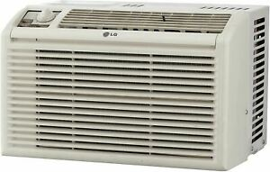LG 5,000 BTU Window Air Conditioner with Manual Controls, 115V, White
