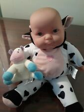 """Berenguer Baby Doll Jc Toys 11"""" Make Cow Sound Excellent!"""