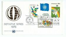 United Nations New York Definitive Series 1976 First Day Cover Unaddressed