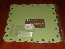 """Uppercase Living Foundations 8"""" X 8"""" Metal Tile In Artichoke Green New"""
