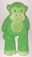 """Pottery Barn Kids Green Monkey 17"""" Plush Soft Stuffed Animal Toy Pbk Critter"""