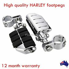 Chrome dually ISO footpegs male mount harley Cruiser Chopper Cafe Racer motor
