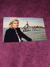 Photo Dédicacée Autograph Marine Le Pen