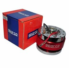 SPARCO STYLE QUICK RELEASE UNIVERSAL FIT  STEERING WHEEL HUB BOSS KIT RED SET