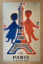 """Réédition affiche """"Paris a 2000 ans»  - Raymond Savignac"""