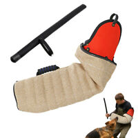 K9 Dog Bite Sleeve & Agitation Whip Training Stick Arm Protection for Schutzhund