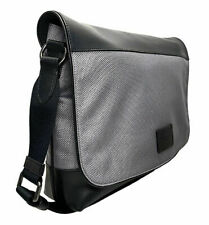 COACH Men's Nylon Leather Messenger Bag~Black/Heather Grey~NWT!!!MSRP$395