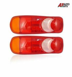 Pair Rh & Lh For Nissan Cabstar Rear Tail Light e-Mark e Lens Eclipse Teardrop
