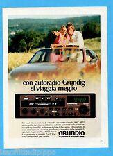 QUATTROR983-PUBBLICITA'/ADVERTISING-1983- GRUNDIG - AUTORADIO