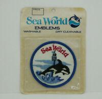 "Sea World Emblems SHAMU Vintage Patch 3"" New Free Shipping"