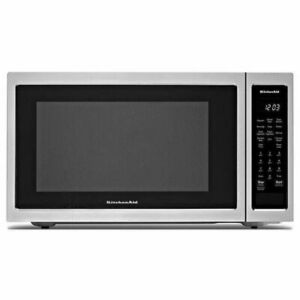 KitchenAid Stainless Steel Countertop Microwave Oven KMCC5015GSS 1.5 open box📦