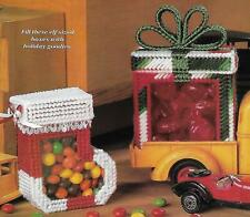 Christmas Candy Boxes plastic canvas PATTERN INSTRUCTIONS