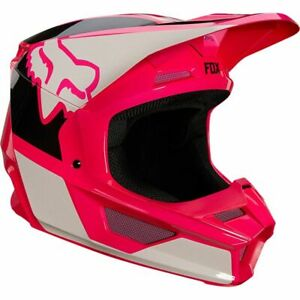 Pink Adult V1 Fox Helmet With Mips and Magnetic Visor Release System 25152-170