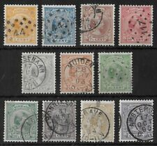 Netherlands 1891-1894 Used Complete Set of 11 Nvph #34-44 Cv €175 Vf
