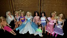 Lot of 10 Barbie Dolls and Clothing