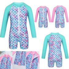 Baby Girls Swimsuit Mermaid Fish Scales Swimwear Rash Guard Bathing Beachwear