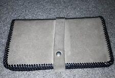Vintage Hand Tooled Tan Leather Suede Tan Ladies Bifold Wallet Clutch