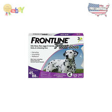 Frontline Plus for Dogs Large Dog (45-88 pounds) Flea & Tick Treatment, 3-Doses