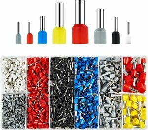 1200x Wire Copper Crimp Connector Insulated Cord Pin End Terminal Kit AWG 22-10