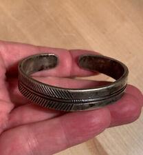 Vintage Navajo Silver Bracelet Early One?