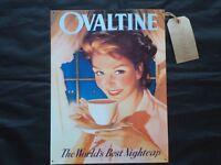 Ovaltine the world/'s best nightcap retro vintage style metal wall plaque sign
