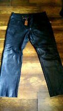 Men Bikers Jeans Black Leather 501 Style Pant Trouser 40 w  31 L NWT