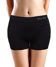 Mujer Negro Pantalones Cortos Elástico Yoga SPORTS Boxers Braguitas Ropa Shorts