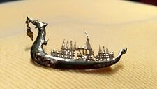 Siam Sterling Silver Dragon Boat, Pin/ Brooch