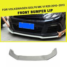 FRP Front Chin Lip Spoiler Fit for VW Golf 6 VI MK6 R20 Bumper Black 2010-2013