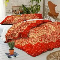 Indian Mandala King Size Duvet Doona Cover Bohemian Cotton Bedding Quilt Set