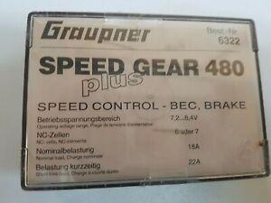 Graupner  6322 SPEED GEAR 480  7,2/8,4 V