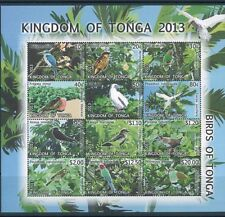 2013 Tonga Commemorative Souvenir Stamp Sheet #1215 Tropical Birds