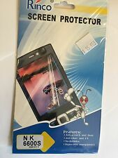 Screen Guard Protector Clear for Nokia 6600S SCG4358 Brand New & Sealed in pack