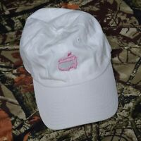The Masters White Pink Strapback Adjustable Hat Magnolia Lane Collection Used