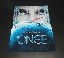 """ONCE UPON A TIME CASTX3 PP SIGNED 12""""X8"""" A4 PHOTO POSTER ROBERT CARLYLE"""