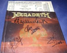 Autograph Megadeth Dave Mustaine And Band Greatest Hits Gigantour and ticket
