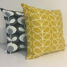 Set Of Two Handmade 18in Cushion Covers Made From ORLA KIELY Fabric Two For £28!