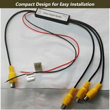 1 to 3 Car DVD TV Video Monitor Amplifier Booster Distribution RCA Splitter 12V