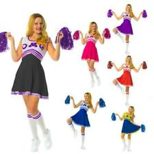 High School  Fancy Dress Costume Outfit With Pom Pom's Musical Girls