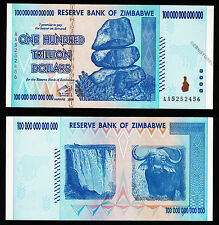 100 Trillion Zimbabwe Dollars Bank Note AA 2008 UNC Uncirculated Authentic P91