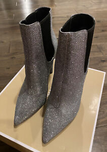 NEW Michael Kors Women's Brielle Bootie Glitter Anthracite Size 9 FREE Shipping